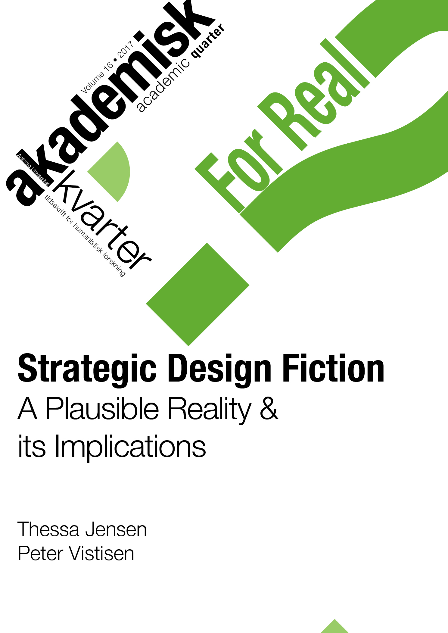 Strategic Design Fiction