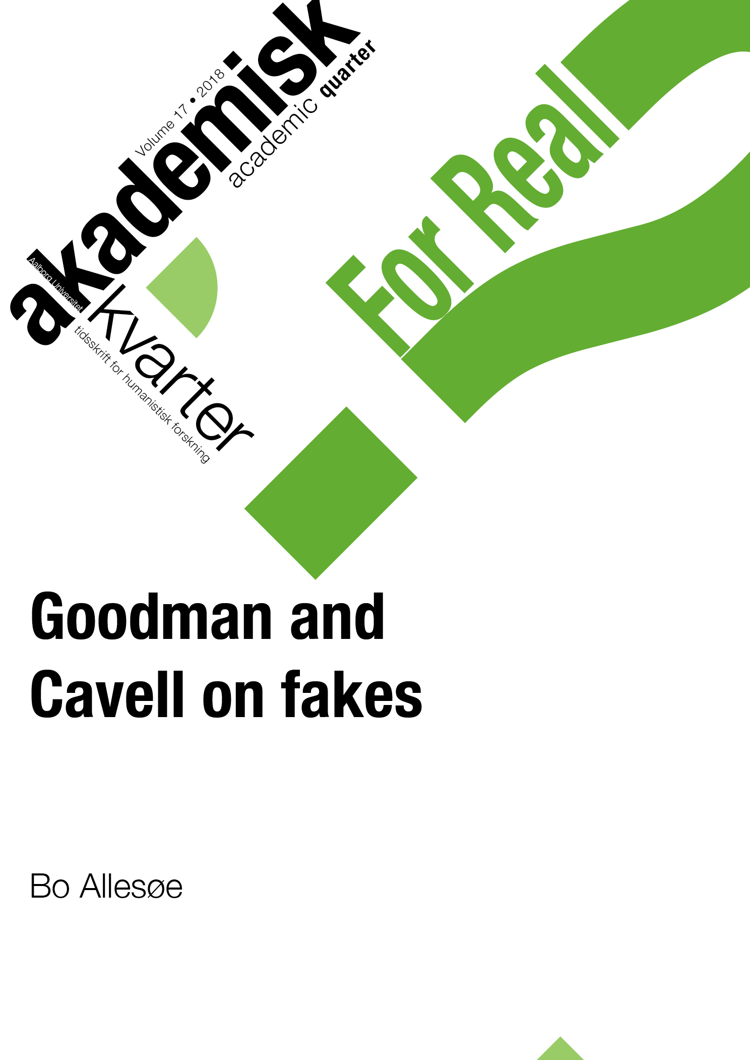 Goodman and Cavell on fakes