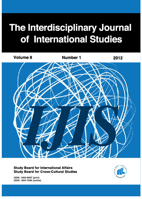 The Interdisciplinary Journal of International Studies - 2012 Cover